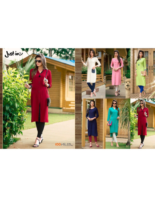 Rs 425 Piece - 100 miles Just In Stitched Kurti Wholesale Catalog 06 pcs