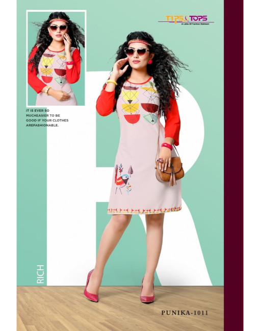 Rs 343 Piece - Tips & Tops Punika Stitched Wholesale Catalog 12 pcs