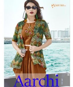 Rs 951 Pc Aarchi Vol 1 Top & Bottom With Jacket Wholesale Catalog 08 pcs