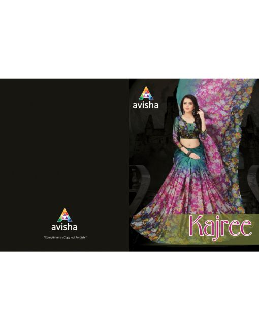 Rs 649 Pc Avisha Kajree Saree Wholesale Catalog 06 pcs