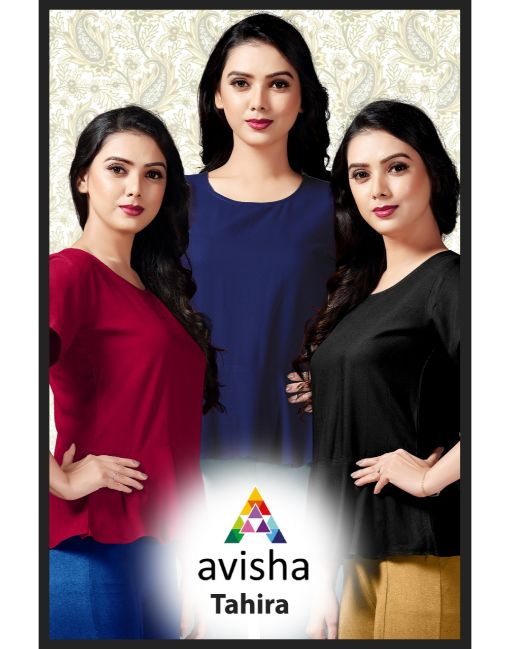Rs 199 Pc Avisha Tahira Wholesale Top Catalog 04 pcs