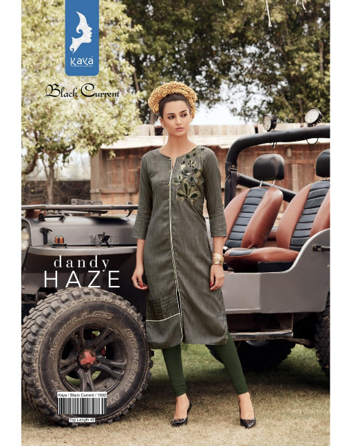 Rs 455 Piece - Black Current by Kaya Stitched Kurti Wholesale Catalog 08 pcs