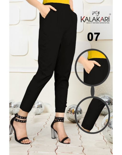 Rs 184 Pc Cigarette Trouser Pants Wholesale Catalog 08 pcs