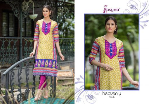 Rs 450 Piece - Psyna Heavenly Vol 5 Stitched Kurti Wholesale catalog 12 pcs