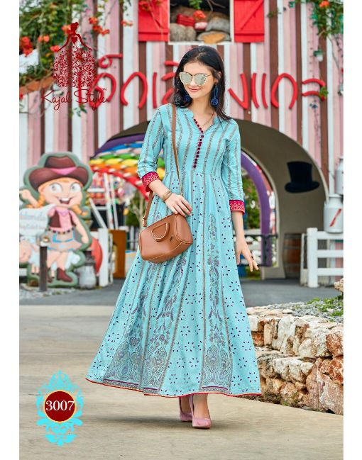 Rs 650 Pc Kajal Style Fashion Colorbar Vol 3 Stitched Kurti Wholesale Catalog 10 pcs