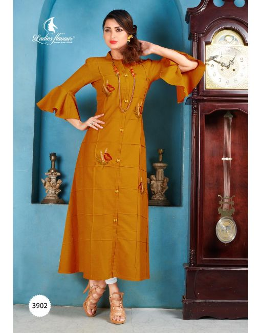 Rs 595 Pc Ladies Flavour Hallmark Stitched Kurti Wholesale Catalog 05 pcs