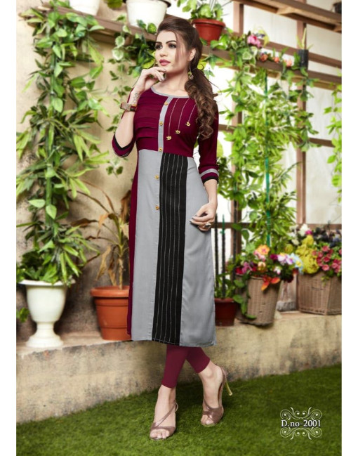 Rs 410 Piece - Pratha vol 2 Stitched Kurti Wholesale Catalog 08 pcs