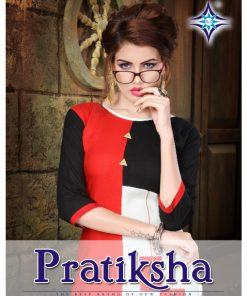 Rs 430 Piece - Pratiksha Stitched Kurti Wholesale Catalog 08 pcs