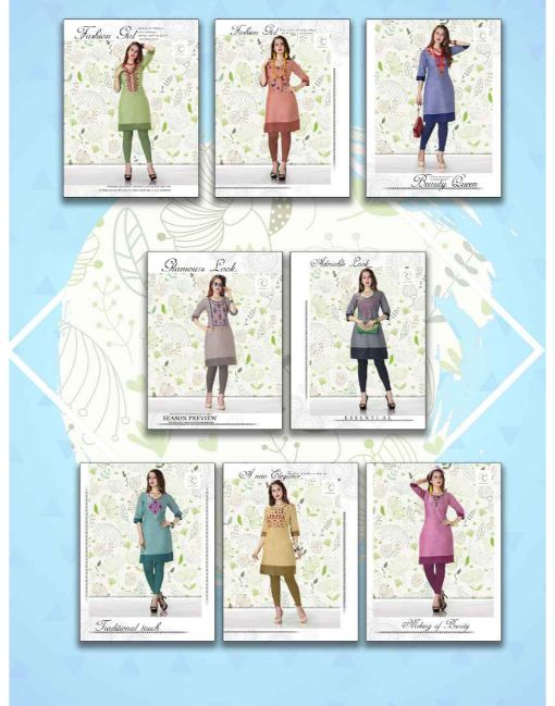 Rs 246 Pc Ramdev Tik Tok Stitched Kurti Wholesale Catalog 08 pcs