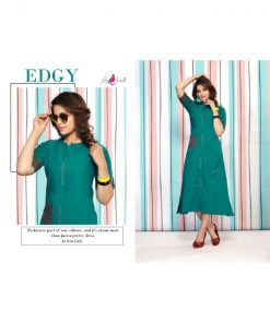 Rs 405 Pc Fly Free Reewa Stitched Kurti Wholesale Catalog 08 pcs