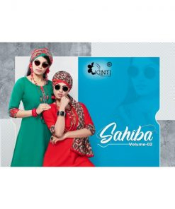 Rs 467 Piece - Sahiba Vol 2 By Kinti Kurti With Stroll Wholesale Catalog 12 pcs