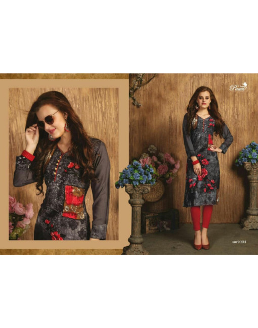 Rs 350 Piece - Suri Stitched Kurti Wholesale Catalog 10 pcs
