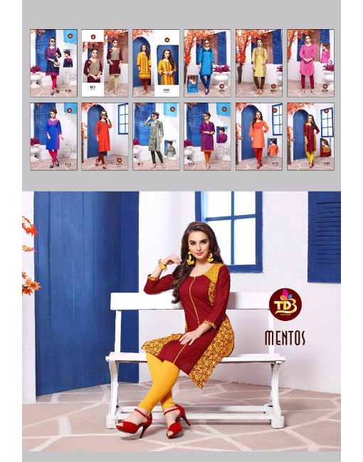 Rs 335 Piece - Swarna Pankh Mentos Stitched Kurti Wholesale catalog 12 pcs