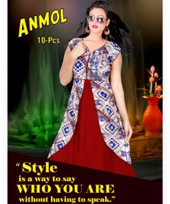 Rs 270 Pc Trendy Anmol Stitched Kurti Wholesale Catalog 10 pcs