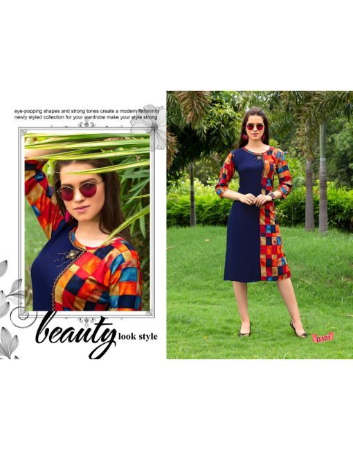 Rs 295 Pc Trendy Ruchi Stitched Kurti Wholesale Catalog 12 pcs