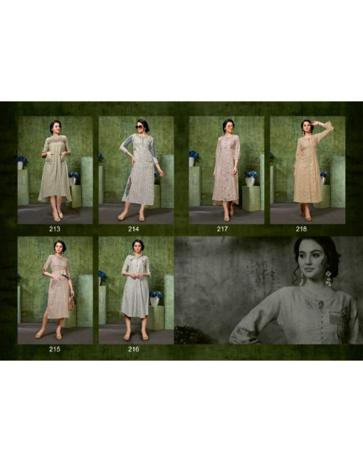 Rs 650 Pc Sanskruti Veronica Stitched Kurti Wholesale Catalog 06 pcs