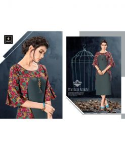 Rs 499 Piece - Vyona By Vragi Fashion Kurti With Attached Jacket Wholesale Catalog 08 pcs