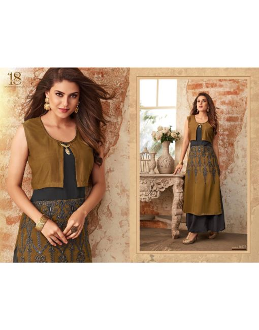 Rs 699 Pc Aastha Vol 14 Stitched Kurti Wholesale Catalog 07 pcs