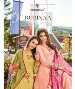 Rs 1069 Pc Arihant NX Rubinaa Silk Kurti With Dupatta Wholesale Catalog 08 pcs