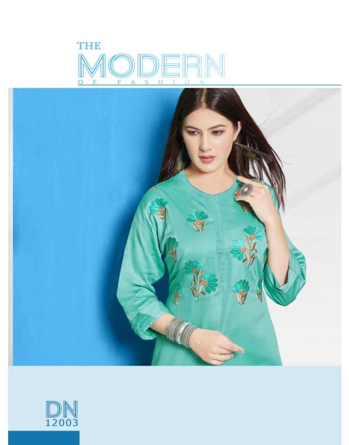 Rs 440 Pc Arohi Stitched Kurti Wholesale Catalog 08 pcs