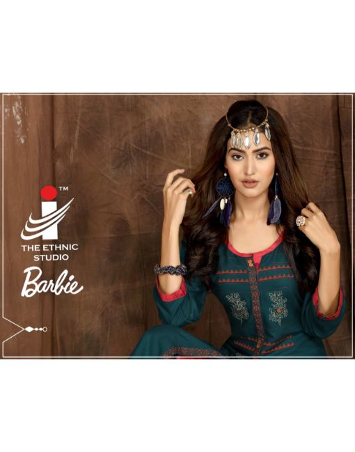 Rs 620 Pc Barbie Kurti With Palazzo Wholesale Catalog 08 pcs