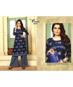 Rs 555 Pc Bonie Rim Zim Kurti With Palazzo Wholesale Catalog 08 pcs