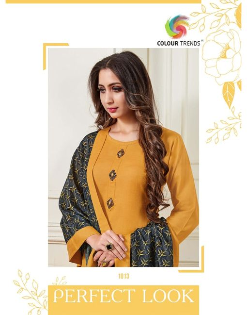 Rs 650 Pc Colour Trends Bandhan Kurti With Dupatta Wholesale Catalog 08 pcs