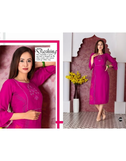 Rs 299 Pc Farmaish Vol 2 Stitched Kurti Wholesale Catalog 10 pcs