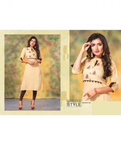 Rs 455 Pc Hirwa Barkha Vol 5 Stitched Kurti Wholesale Catalog 08 pcs