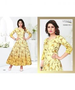 Rs 520 Pc Venisa Nidhi NX 3 Stitched Kurti Wholesale Catalog 06 pcs