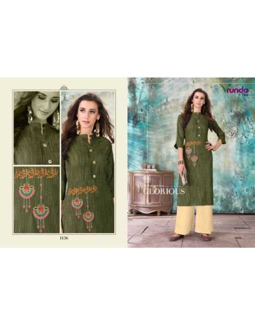 Rs 699 Pc Vrunda Nirva Kurti With Palazzo Wholesale Catalog 06 pcs