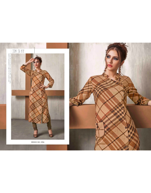 Rs 559 Piece - CHECKS VOL. 4 Stitched kurti Wholesale Catalog 12 pcs